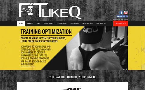 Screenshot of Home Page fitlikeq.com - FitLikeQ.com - captured June 5, 2017