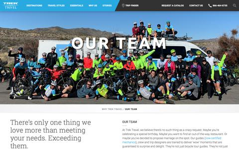 Screenshot of Team Page trektravel.com - Tour Guides and Staff at Trek Travel Cycling Vacations - captured July 11, 2019