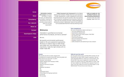 Screenshot of Home Page therightenvironment.net - Welcome, you have arrived at The Right Environment Ltd | Consultancy | Coaching | and more - captured Sept. 30, 2014