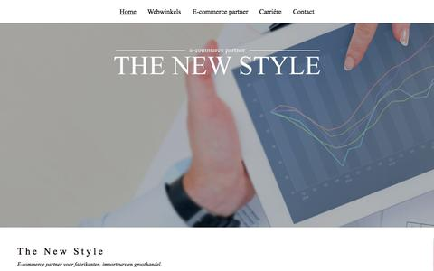 Screenshot of Home Page thenewstyle.nl - The New Style BV - E-commerce partner - captured Oct. 7, 2014
