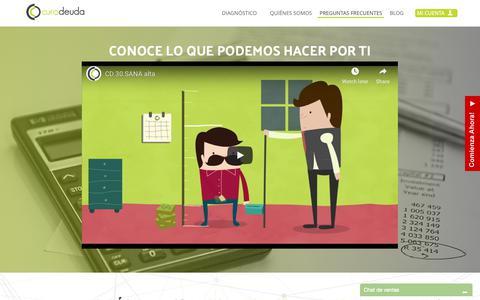 Screenshot of FAQ Page curadeuda.com - Liquida tus Deudas con Descuento y Sanea tu Buro de Crédito | Cura Deuda - captured Nov. 5, 2018