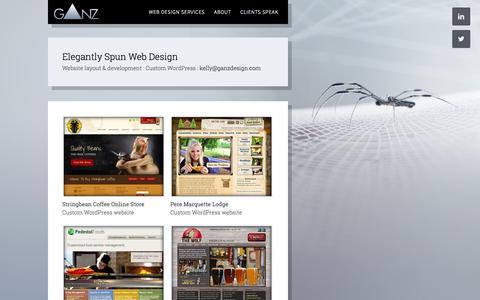 Screenshot of Home Page ganzdesign.com - WordPress Designers St louis | Kelly Ganz Design - captured Jan. 23, 2015