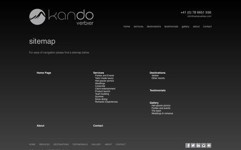 Screenshot of Site Map Page kandoverbier.com - Sitemap «  Kando - captured Sept. 30, 2014