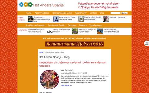 Screenshot of Blog het-andere-spanje.nl - Het Andere Spanje - Blog | Het Andere Spanje - captured Oct. 28, 2014