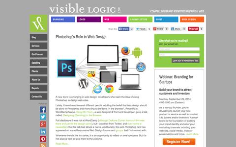 Screenshot of Blog visiblelogic.com - Visible Logic Blog | Visible Logic - captured Sept. 19, 2014