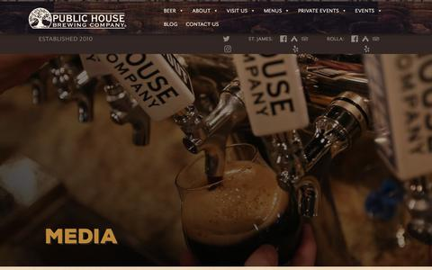 Screenshot of Press Page publichousebrewery.com - Media – Public House Brewing Company - captured Sept. 30, 2018