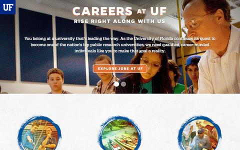 Screenshot of Jobs Page ufl.edu - University of Florida Careers - captured Oct. 21, 2015