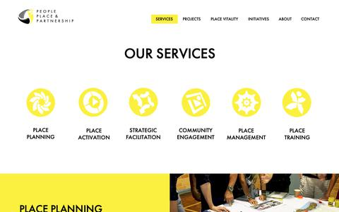 Screenshot of Services Page ppandp.com.au - Services - captured Sept. 27, 2018