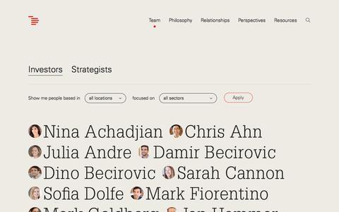 Screenshot of Team Page indexventures.com - Index Ventures | Team | Index Ventures - captured Nov. 1, 2019