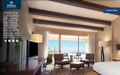 Screenshot of Home Page sandiegohilton.com - Hilton San Diego Resort | Luxury Family Resort in San Diego - captured Oct. 1, 2015