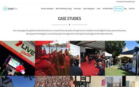 Screenshot of Case Studies Page getjackdmedia.com - Marketing and Media Case Studies - Get JackD! Media - captured May 18, 2017