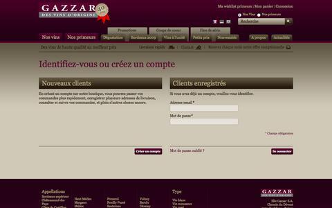 Screenshot of Login Page gazzar.ch - Identifiant client - captured Oct. 2, 2014