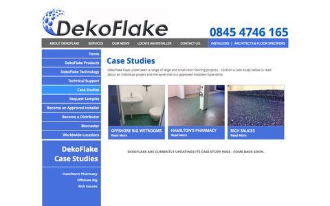 Screenshot of Case Studies Page dekoflake.co.uk - Case Studies - dekoflake.co.uk - captured Oct. 29, 2014