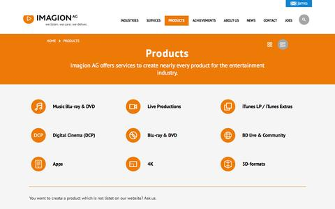 Screenshot of Products Page imagion.de - Products - Imagion AG - captured Nov. 3, 2014