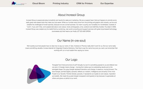 Screenshot of About Page incresolgroup.com - About Incresol Group | Incresol Group - captured Sept. 30, 2014