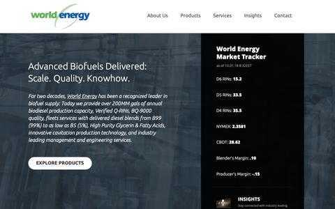 Screenshot of Home Page worldenergy.net - Welcome - World Energy - captured Oct. 4, 2018
