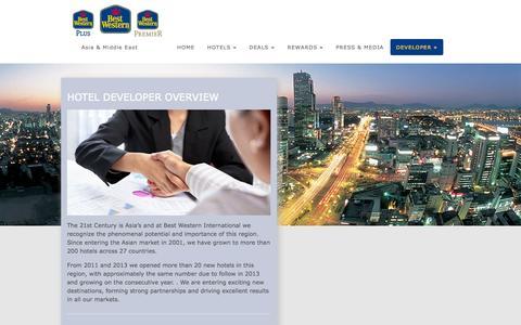 Screenshot of Developers Page bestwesternhotelasia.com - Hotel Developer Overview | Best Western - captured Oct. 4, 2014