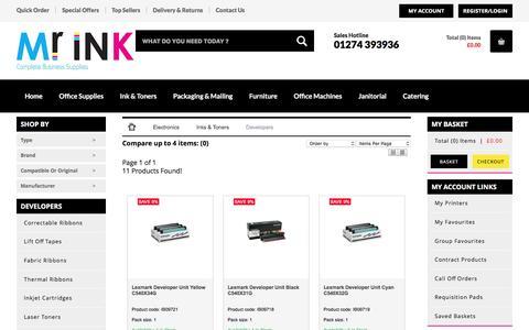 Screenshot of Developers Page mrinkltd.com - Developers - Mr Ink Bradford Ltd   For all your Ink Cartridge, Toner and Printing needs - captured May 27, 2017