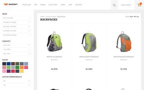 Screenshot of wildcraft.in - Buy Wildcraft Backpacks Bags Online for Men and Women - captured March 19, 2016