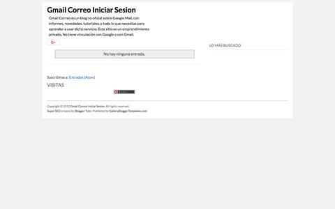 Screenshot of Home Page gmail-correo.net - Gmail Correo Iniciar Sesion - captured June 29, 2018