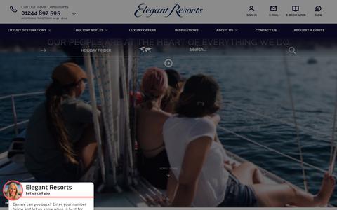 Screenshot of Jobs Page elegantresorts.co.uk captured Aug. 17, 2018
