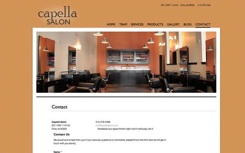 Screenshot of Contact Page capelladsm.com - Contact | Capella - captured Oct. 1, 2014