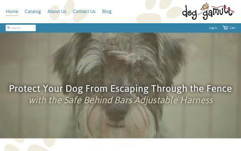 Screenshot of Home Page dog-gamutt.com - Dog-Gamutt - captured Aug. 2, 2016