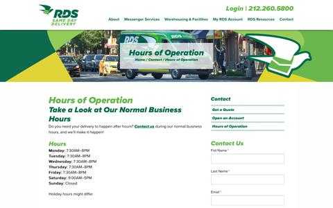 B2B Services Hours Pages   Website Inspiration and Examples