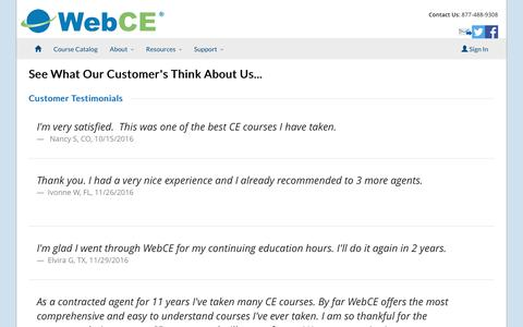Testimonials | WebCE