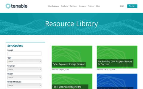 Resource Library | Tenable™
