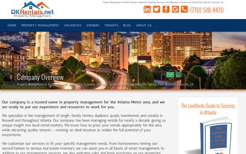 Screenshot of About Page dkrentals.net - DKRentals.Net Property Management in Atlanta, GA | Marietta | Roswell | Cumming | Stone Mountain | Riverdale | Norcross | College Park | Lawrenceville | - captured Nov. 23, 2016