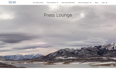Screenshot of Press Page dxo.com - Press Lounge | DxO.com - captured Aug. 31, 2016