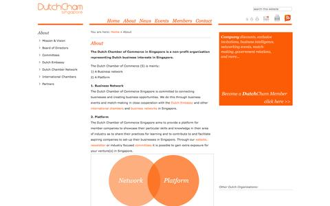 Screenshot of About Page dutchcham.sg - About   DutchCham - The Dutch Chamber of Commerce in Singapore - captured Oct. 5, 2014