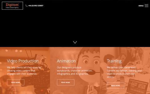 Screenshot of Home Page digitom.tv - Digitom Ltd   Tunbridge Wells Video Production Company - captured Nov. 24, 2016