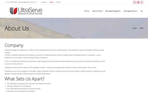 Screenshot of About Page ultraserve.com.au - UltraServe |   About - captured Oct. 27, 2014