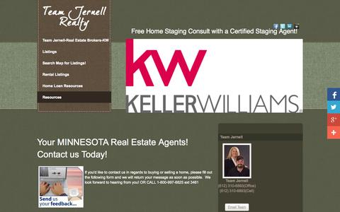 Screenshot of Contact Page funkyhuts.com - Team Jernell LLC-FunkyHuts.com-Keller Williams Classic Realty-Minneapolis, MN-Real Estate Brokers, GRI - captured Oct. 26, 2014