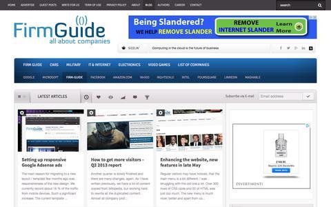 Screenshot of Blog firm-guide.com - FirmGuide - Firm Guide - captured Sept. 24, 2014