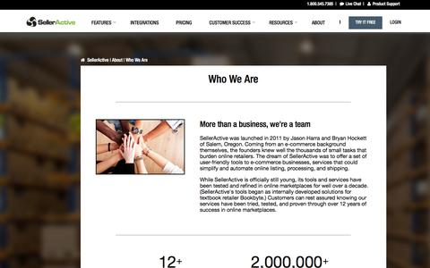 Screenshot of About Page Team Page selleractive.com - Who We Are | Our Team, Core Values | SellerActive - captured Sept. 19, 2014