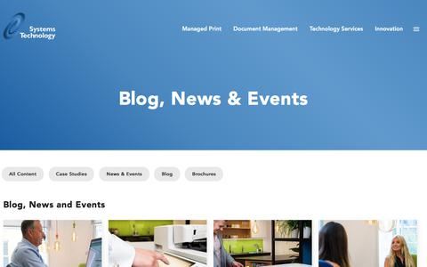 Screenshot of Blog systemstechnology.co.uk - Systems Technology Blog, News & Events - Systems Technology Blog, News & Events : Systems Technology Blog, News & Events - captured Nov. 7, 2019