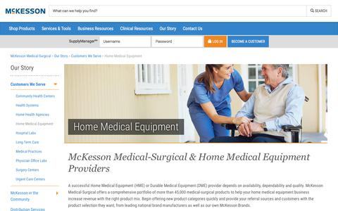 Home Medical Equipment - McKesson Medical-Surgical