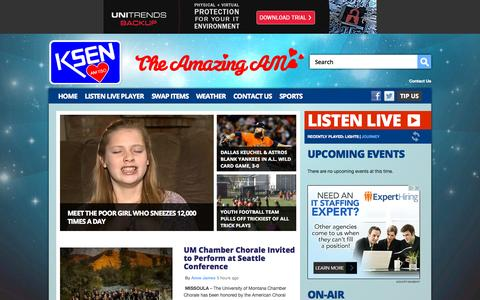 Screenshot of Home Page ksenam.com - KSEN AM 1150 Radio – Good as Gold – Shelby Classic Hits Radio - captured Oct. 7, 2015
