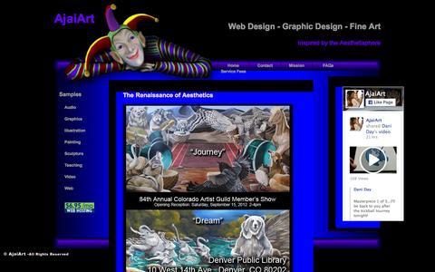 Screenshot of Home Page ajaiart.com - AjaiArt - captured Sept. 16, 2015