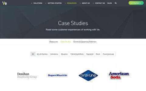 Screenshot of Case Studies Page veinteractive.com - Marketing Case Studies - captured Oct. 27, 2016