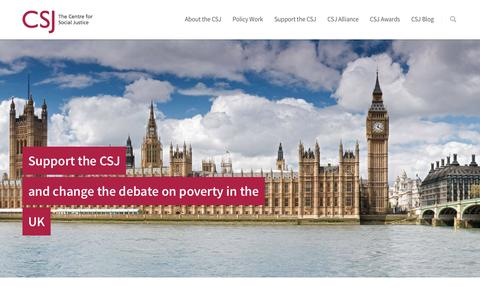 Screenshot of Support Page centreforsocialjustice.org.uk - Support the CSJ - The Centre of Social Justice - captured Feb. 27, 2017