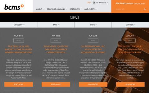 Screenshot of Press Page bcmscorp.com - News | www.bcmscorp.com - captured Nov. 21, 2016