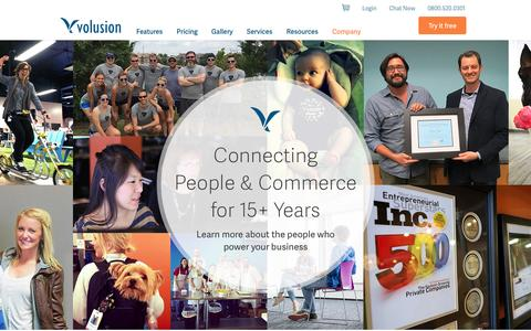Screenshot of About Page volusion.com - Company - About us | Volusion - captured Nov. 6, 2015