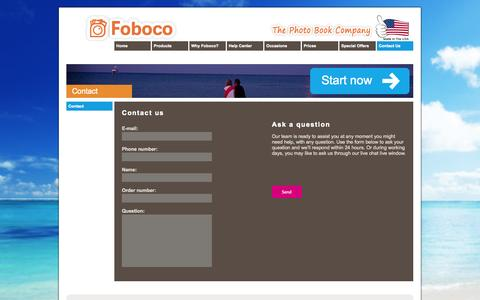 Screenshot of Contact Page foboco.com - Contact us | Foboco.com - captured Sept. 30, 2014