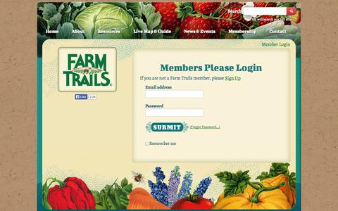 Screenshot of Login Page farmtrails.org - Sign in - captured Oct. 5, 2014