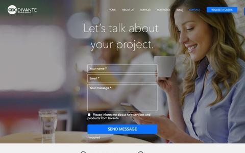 Screenshot of Contact Page divante.co - Contact Divante - captured Sept. 23, 2014
