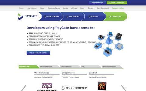 Screenshot of Developers Page paygate.co.za - PayGate Developers - Your Payment Gateway Partner - captured Oct. 27, 2014